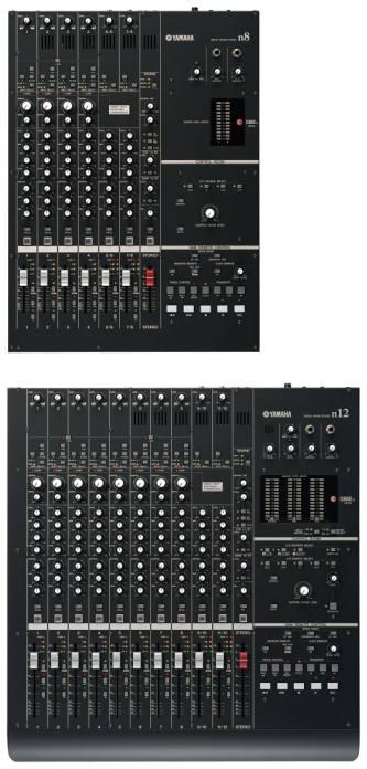 Yamaha N8, N12 – многоканальные FireWire интерфейсы совмещённые с цифровым микшером.